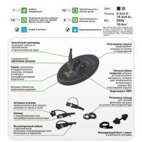 Катушка Nel Snake для X-Terra 2-х частотная (3 кГц / 7,5 кГц)